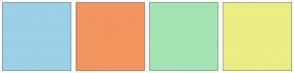 Color Scheme with #9CD0E4 #F3955E #A4E4B3 #EAEE84