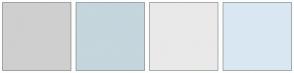 Color Scheme with #CFCFCF #C5D6DD #E9E9E9 #D9E7F3