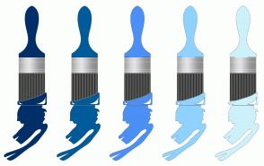 Color Scheme with #002F69 #005B9A #4C8FF5 #8FD2FF #CDF1FA