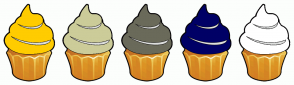 Color Scheme with #FFCC00 #CCCC99 #6A6A5A #000066 #FFFFFF