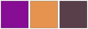 Color Scheme with #860D94 #E69350 #593F4A