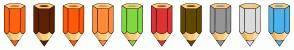 Color Scheme with #FF610D #5E2100 #FF5907 #FF8B39 #81D742 #DD3333 #604800 #959595 #DBDBDB #4DB2EC