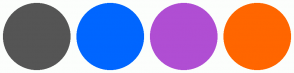 Color Scheme with #555555 #0066FF #B04ED3 #FF6600