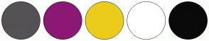Color Scheme with #545254 #8C1875 #EBCC1A #FFFFFF #0A0A0A