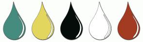 Color Scheme with #458C7E #E3D65F #050D0B #FFFFFF #A33B21