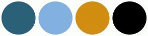Color Scheme with #2B6178 #82B1E0 #D18E11 #000000