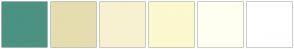 Color Scheme with #4B9282 #E5DDAF #F7F1CF #FCF8CF #FFFFF1 #FFFFFF