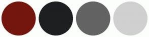 Color Scheme with #74160D #1E1F21 #636363 #D0D0D0