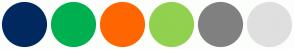 Color Scheme with #002960 #00B050 #FF6600 #92D050 #808080 #DFDFDF
