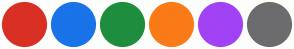 Color Scheme with #D93025 #1A73E8 #1E8E3E #FA7B17 #A142F4 #6C6C6E