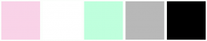 Color Scheme with #F9D3E8 #FFFFFF #BFFFDD #B8B8B8 #000000