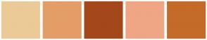 Color Scheme with #EBCA97 #E49D67 #A3481B #EFA685 #C46B29