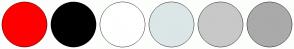 Color Scheme with #FE0000 #000000 #FFFFFF #DCE6E6 #C8C8C8 #AAAAAA