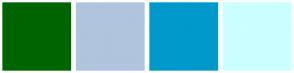 Color Scheme with #006400 #B0C4DE #0099CC #CCFFFF
