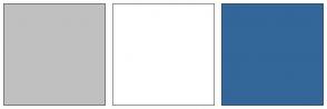 Color Scheme with #C0C0C0 #FFFFFF #336699