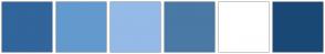 Color Scheme with #31659C #639ACE #94BAE7 #4A79A5 #FFFFFF #1A4876