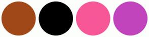 Color Scheme with #A14818 #000000 #F75797 #C244BC