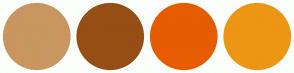 Color Scheme with #C99561 #964E14 #E65C00 #ED9613