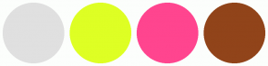 Color Scheme with #E0E0E0 #DEFF24 #FF458F #91441A