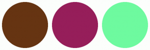 Color Scheme with #663412 #961E5A #6EFA9F