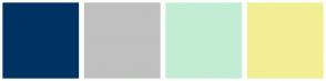 Color Scheme with #003264 #C0C0C0 #C2EDD4 #F2EE94