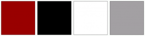 Color Scheme with #990000 #000000 #FFFFFF #A3A0A3