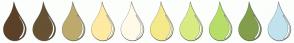 Color Scheme with #5C4029 #665233 #BDAA6D #FFEAA3 #FFFAE8 #F5EA89 #D9EB83 #B7DE68 #829E4A #C2E2ED