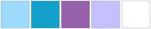 Color Scheme with #9EDCFF #13A1CB #9562AA #C5C0FF #FFFFFF