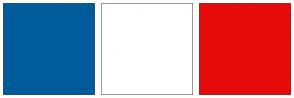Color Scheme with #005B9A #FFFFFF #E60B0B