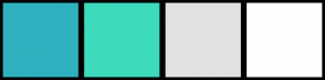 Color Scheme with #30B1BF #3DDBBC #E2E2E2 #FFFFFF