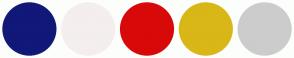 Color Scheme with #101878 #F4EEEE #D80909 #D8B717 #CCCCCC