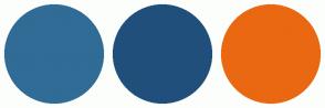 Color Scheme with #306C96 #204F7C #EA6811