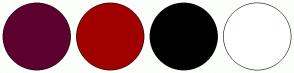 Color Scheme with #5C002F #A10000 #000000 #FFFFFF
