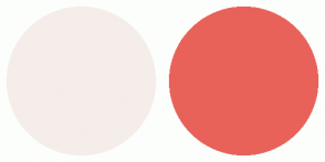 Color Scheme with #F5EDE9 #E8625A