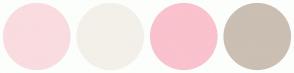 Color Scheme with #F9DCDF #F3F0E9 #F9C2CD #CBBEB3