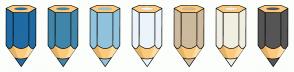 Color Scheme with #206BA4 #4086AA #91C3DC #EBF4FA #CDB99C #F1EFE2 #555555