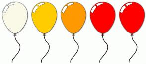 Color Scheme with #FAF9E8 #FFCC00 #FF9900 #FF0000 #FF0000