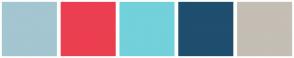 Color Scheme with #A3C6D1 #EB3F50 #72D1DB #1F4E6E #C4BEB5