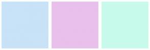 Color Scheme with #C8E2F7 #E8C0EB #C8FAEB
