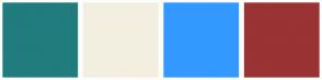 Color Scheme with #217C7E #F3EFE0 #3399FF #9A3334