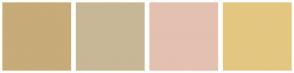 Color Scheme with #C7AB78 #C7B796 #E4C0B0 #E3C781