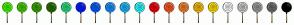 Color Scheme with #41FD00 #40D000 #38A600 #286D00 #28DE7E #001BFF #015EFF #1890FF #1CB8FF #2BFDFF #F9000A #FA5A24 #FB822A #FDBD00 #FFE200 #FFFFFF #CECECE #9E9E9E #6F6F6F #000000