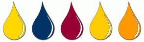 Color Scheme with #FFD800 #003366 #990033 #FFCC00 #FF9900
