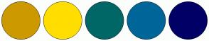 Color Scheme with #CC9900 #FFDE00 #006666 #006699 #000066