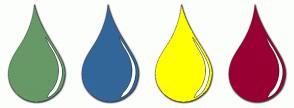 Color Scheme with #669966 #336699 #FFFF00 #990033