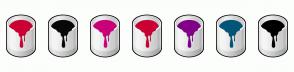 Color Scheme with #CC0033 #080808 #CC007A #CC0033 #800087 #025578 #000000