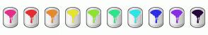 Color Scheme with #E52D89 #E52D2D #E5892D #E5E52D #89E52D #2DE589 #2DE5E5 #2D2DE5 #892DE5 #26073C