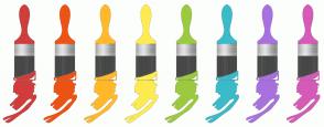 Color Scheme with #D03D3D #ED5314 #FFB92A #FEEB51 #9BCA3E #3ABBC9 #A871DF #D65AB7