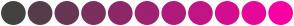 Color Scheme with #444240 #563C4A #683554 #7A2F5E #8C2867 #9E2271 #B01B7B #C21585 #D40E8F #E60899 #F801A3