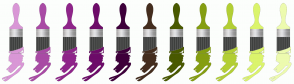 Color Scheme with #D997D6 #A94BA5 #8F258A #6D0C69 #3E003B #442D1E #495900 #859E12 #B3CF35 #DBF46C #EDFBAF